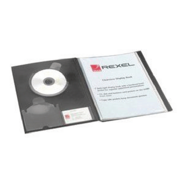 Rexel Clearview A4 Display Book Black 24 Pocket 10320BK