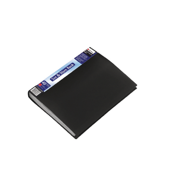 Rexel See and Store A4 40 Pocket Black Display Book 10560BK