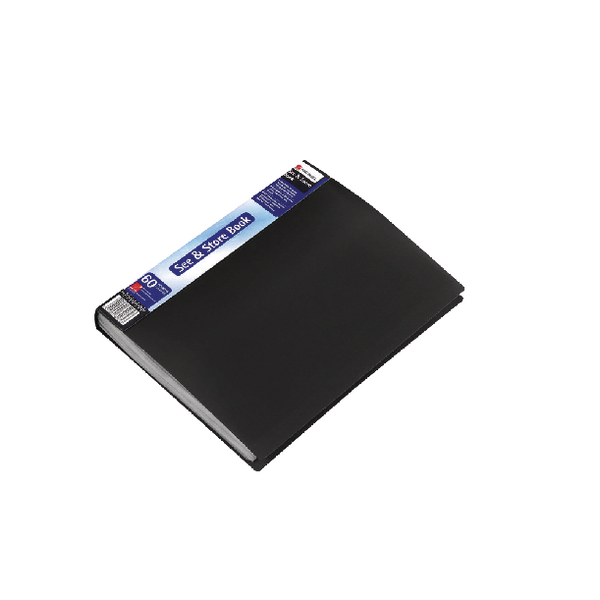Rexel See and Store A4 60 Pocket Black Display Book 10565BK