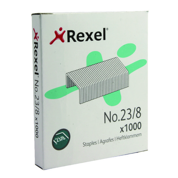 Rexel No.23 8mm Tacker Staples (Pack of 1000) 2101054