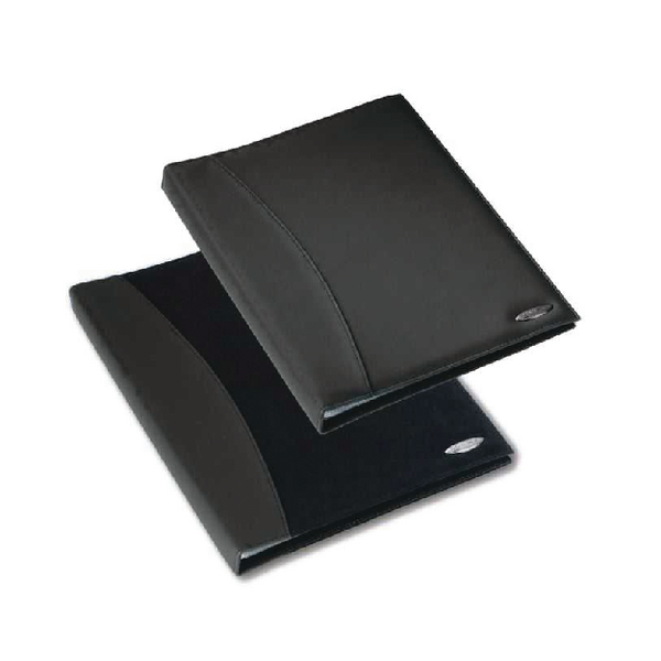 Rexel Soft Touch Smooth A4 Display Book 24 Pocket Black 2101185
