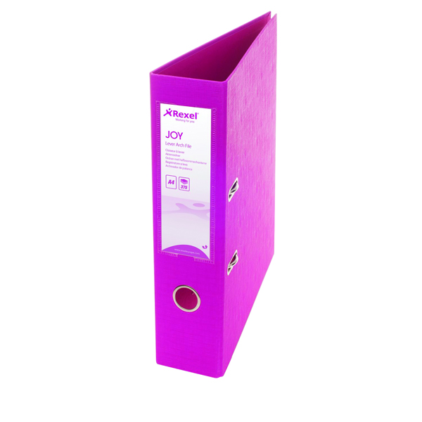 Rexel Joy Pink A4 Lever Arch File (Pack of 6) 2104009