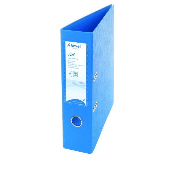 Rexel Joy Blue A4 Lever Arch File (Pack of 6) 2104011