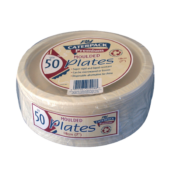 Super Rigid 7 Inch Biodegradable Plate (Pack of 50) 3865