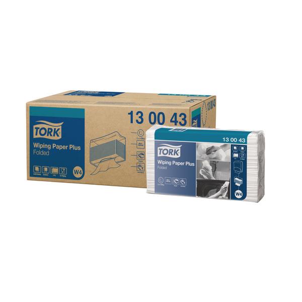 Tork Wiper Advanced Folded Blue 200 Sheets Pack of 5 130043