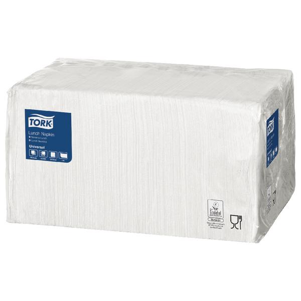 Tork Lunch Napkin 1 Ply 4 Fold White (Pack of 556) 478744