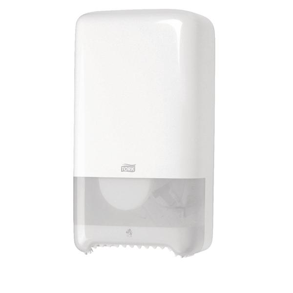 Tork Twin Mid-Size Toilet Roll Dispenser White 557500
