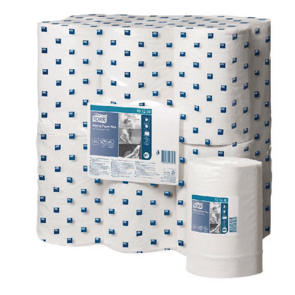 Tork White Wiping Paper Plus MiniCentrefeed Roll 2 Ply (Pack of 12) 101230