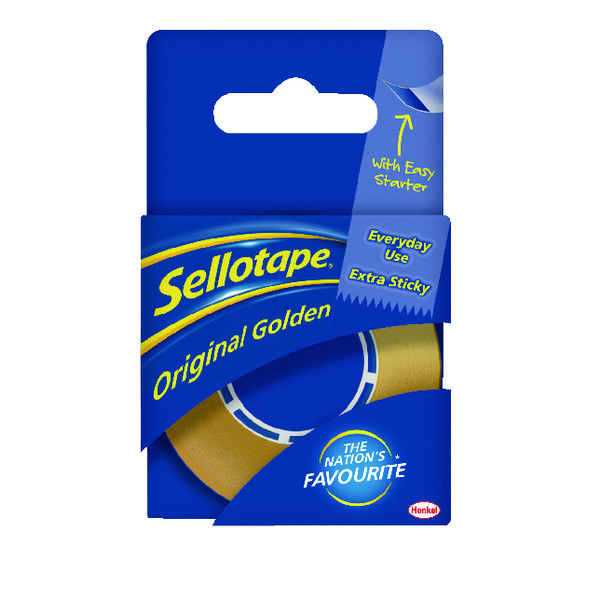 Catalogue - Vow Catalogue Sellotape 18mm x 25m Golden Tape Pack of 8 1443169