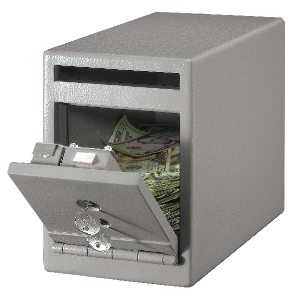*Master Lock Small Under Counter Drop Slot Safe 7 Litre Grey UC-025