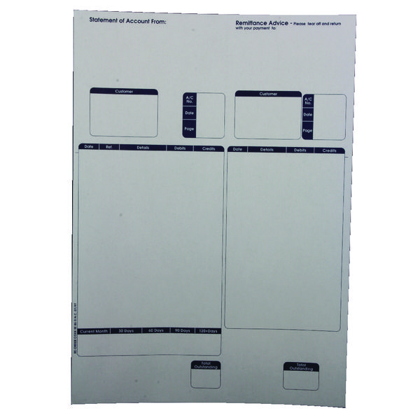Custom Forms Sage A4 1-Part Laser Sales Ledgers 90gsm (Pack of 500) SE85S