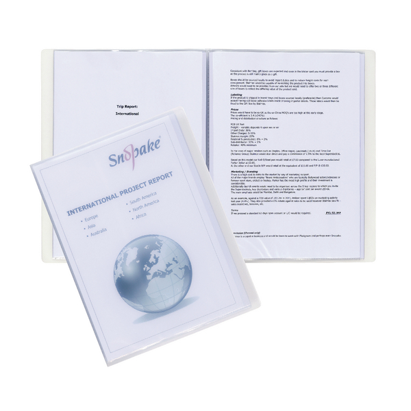 Snopake Superline A4 Presentation Book 10 Pocket Polypropylene Clear 11904