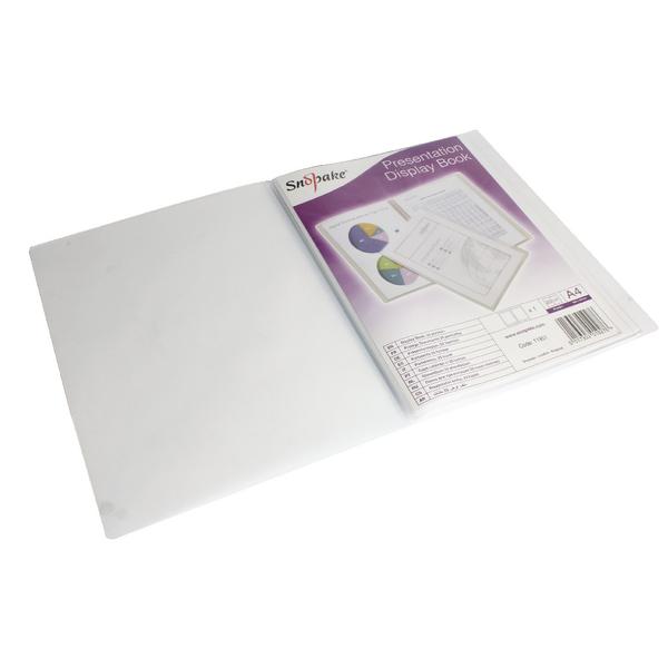 Snopake Superline A4 Presentation Book 20 Pocket Polypropylene Clear 11951