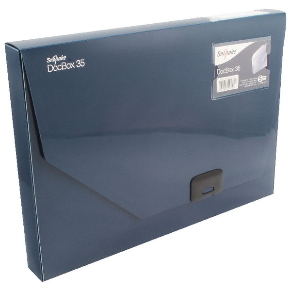 Snopake A4 35mm Dark Blue Document Box 12858