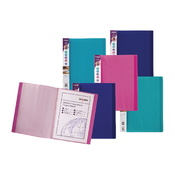 Snopake Electra A4 Display Book 24 Pocket Assorted (Pack of 10) 12219