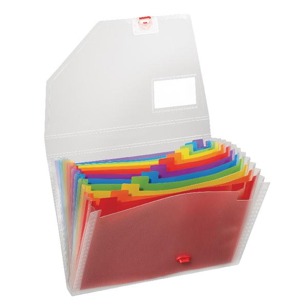 Snopake A4 Rainbow Expanding Organiser 15768
