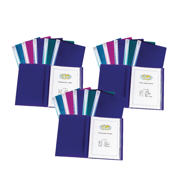 Snopake Display Book Electra A4 24 Pocket Assorted Pack of 5 Buy 3 Packs for the Price of 2 SK812394
