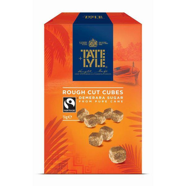Tate and Lyle Demerara Rough Cut Sugar Cubes 1kg 21J1003