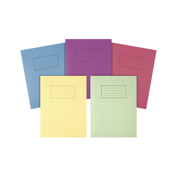 Silvine Exercise Books 9 x 7in / 229 x 178mm Assorted Pack of 10 EX115-S