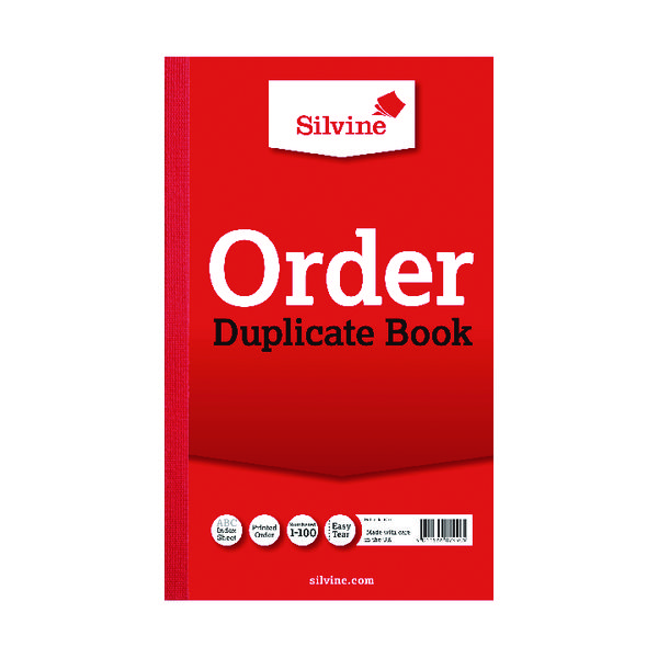 Silvine Duplicate Order Book 210x127mm (Pack of 6) 610
