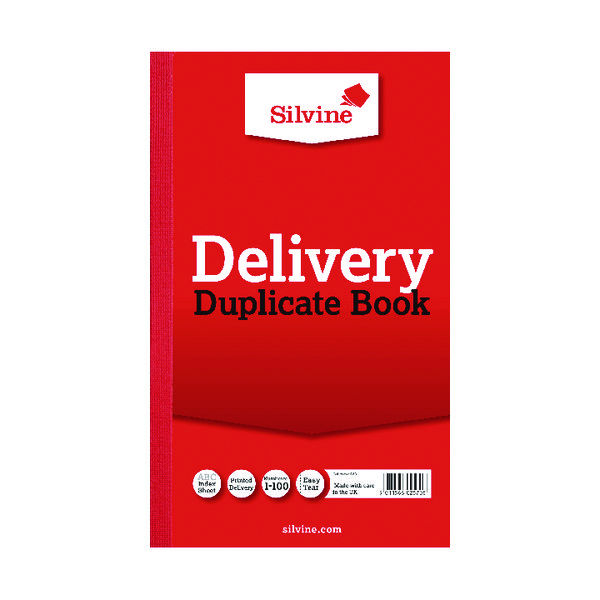 Duplicate Silvine Duplicate Delivery Book 210x127mm (Pack of 6) 613-T