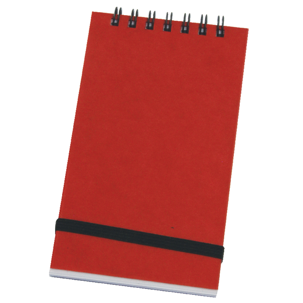 Silvine Spiral Bound Elastic Band Notebook 76x127mm 96 Leaf Ruled Feint (Pack of 12) 194