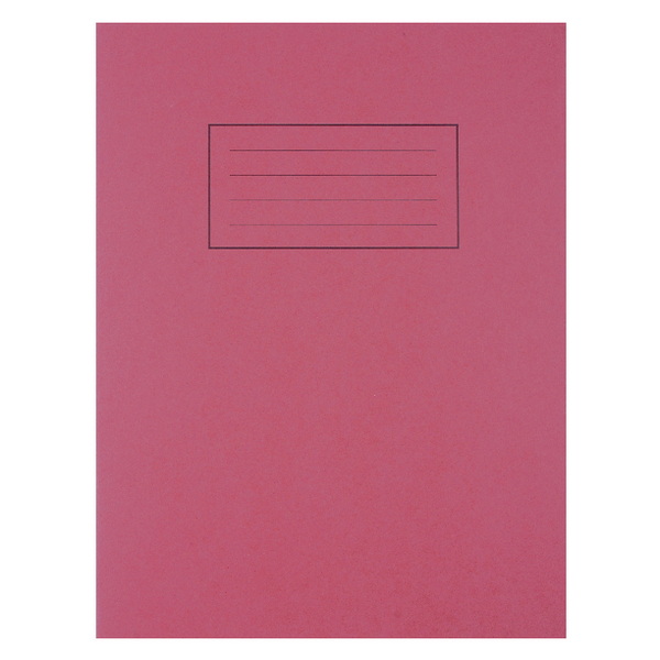 Silvine Feint Ruled With Margin Red 229x178mm Exercise Book 80 Pages (Pack of 10) EX101