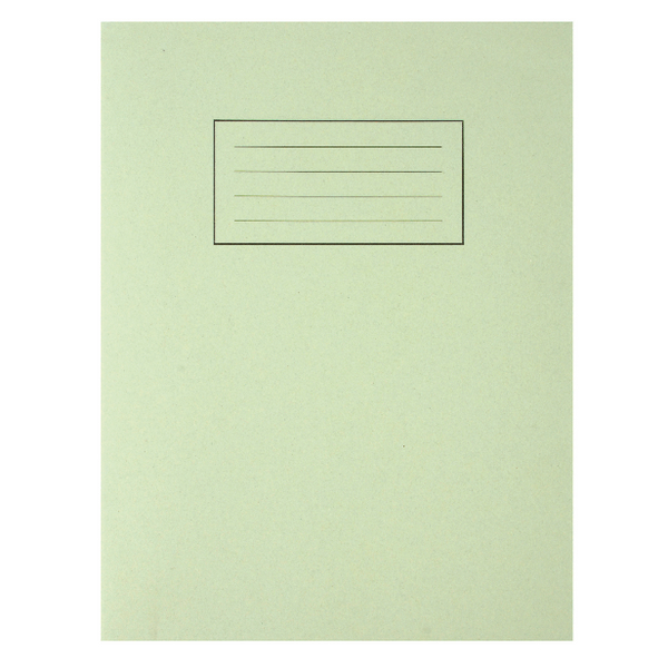 Silvine Feint Ruled With Margin Green 229x178mm Exercise Book 80 Pages (Pack of 10) EX102