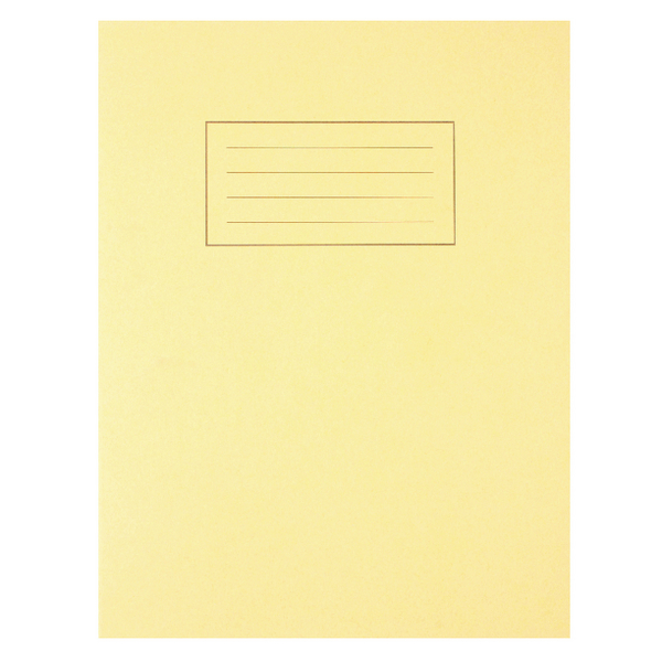 Silvine Feint Ruled With Margin Yellow 229x178mm Exercise Book 80 Pages (Pack of 10) EX103