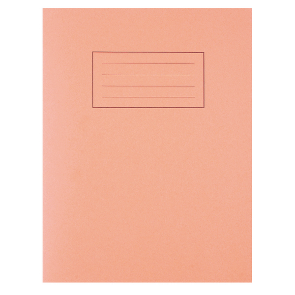 Silvine Feint Ruled With Margin Orange 229x178mm Exercise Book 80 Pages (Pack of 10) EX105