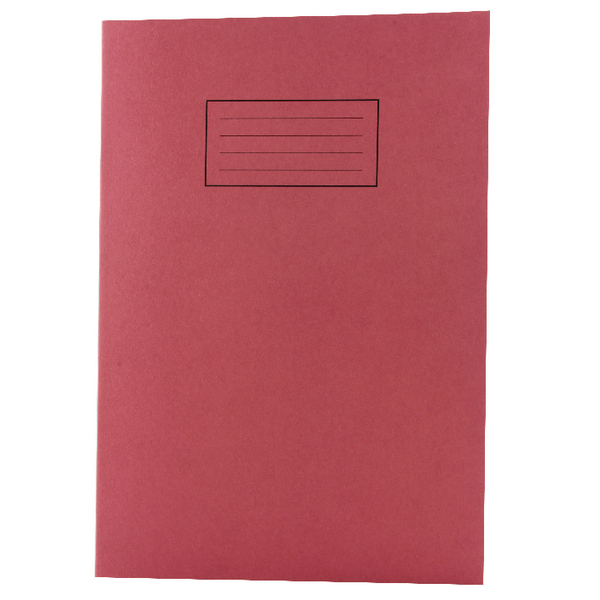 Silvine Feint Ruled With Margin Red A4 Exercise Book 80 Pages EX107