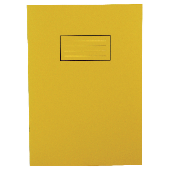Silvine Ruled Feint With Margin Yellow A4 Exercise Book 80 Pages EX109