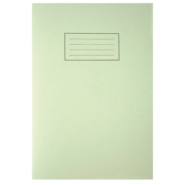 Silvine Tough Shell A4 Exercise Book Feint Ruled With Margin Green EX143