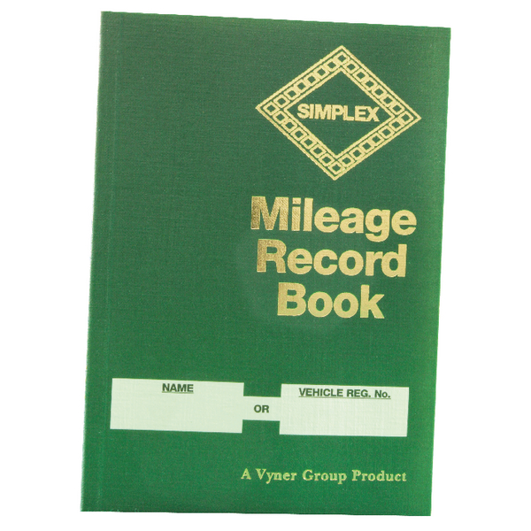 Environmentally Friendly Simplex Mileage Record Book MRB