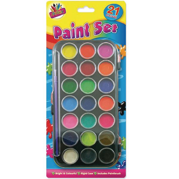 Tallon 21-Colour Paint Set (Pack of 12) 5104