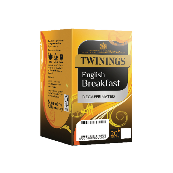 Twinings English Breakfast Decaffeinated Envelope Tea Bag Pk20x4 F12423