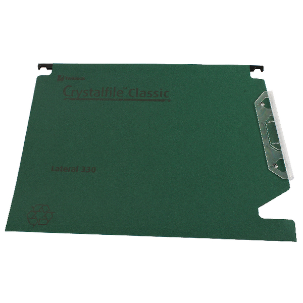 Rexel Crystalfile Classic Green 15mm Lateral File Pack of 50 70670