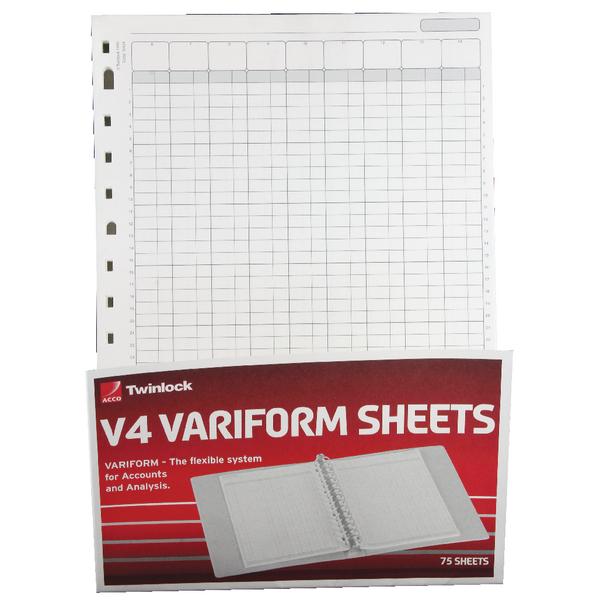 Rexel Variform V4 14 Column Cash Refill Pack of 75 75934