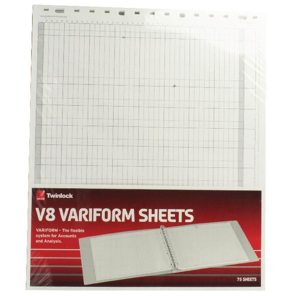 Rexel Variform V8 10 Cash Column Refill Pack of 75 75982