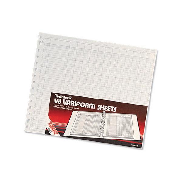 Rexel Variform V8 12 Cash Column Refill Pack of 75 75983
