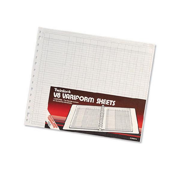 Rexel Variform V8 4 Debit 6 Credit Petty Cash Refill Pack of 75 75990