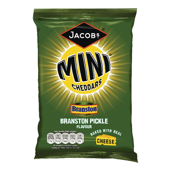 Jacobs Mini Cheddars Branston Pickle Grab Bag (Pack of 30) 27814