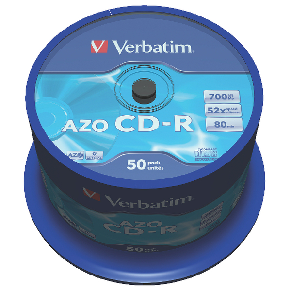 Verbatim CD-R 700MB 80minutes Spindle (Pack of 50) 43343