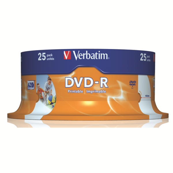 Verbatim DVD-R 16X Spindle (Pack of 25) 43489