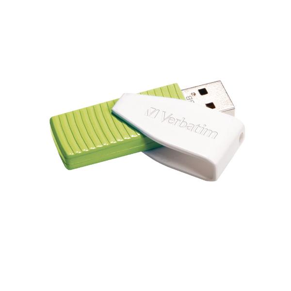 Verbatim Store n Go Swivel USB 2.0 Drive 32GB Green 49815