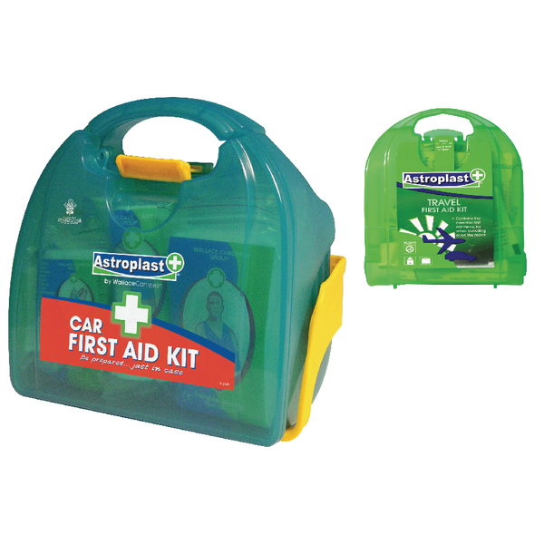 Astroplast Car First Aid Kit with Free Micro Travel First Aid Kit WAC841006