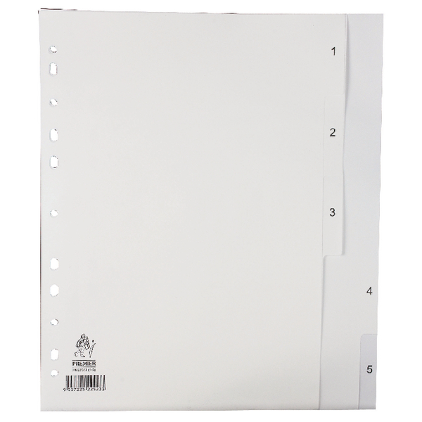 A4 White 1-5 Polypropylene Index WX01352