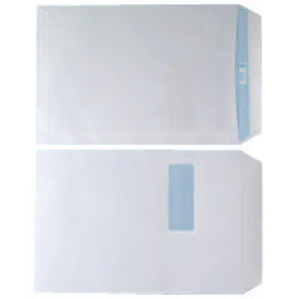 Envelope C4 Window 90gsm White Self Seal (Pack of 250) WX3501