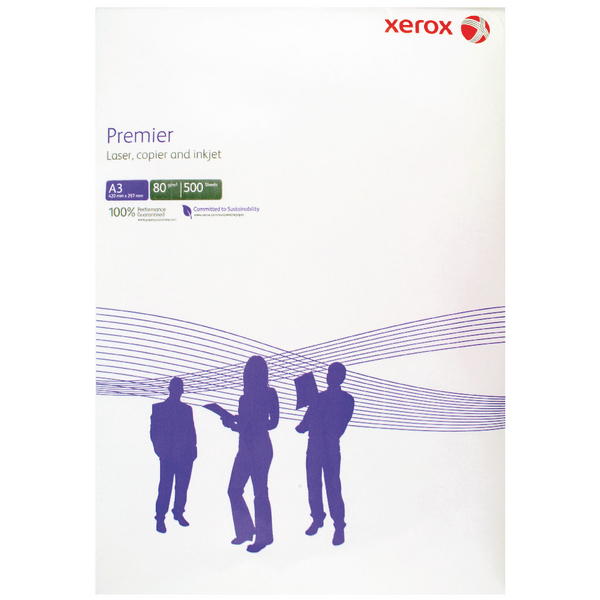 Xerox Premier A3 Paper 80gsm White Ream 003R91721 (Pack of 500)
