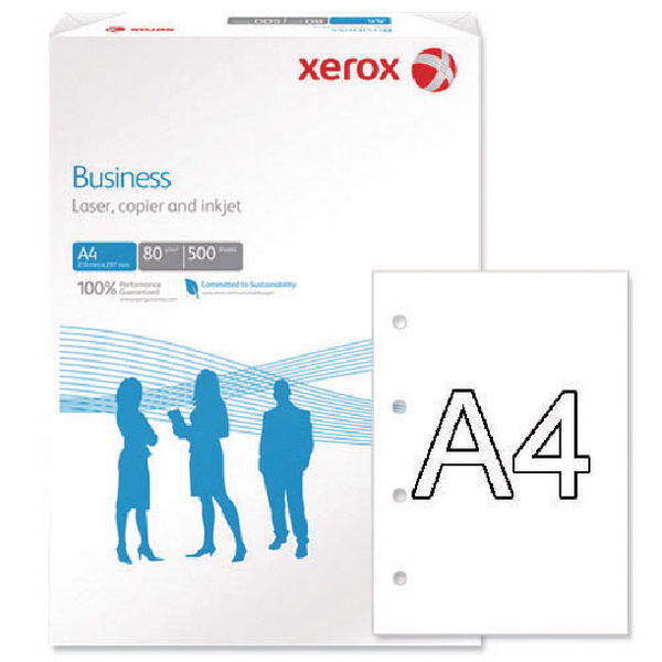 Xerox Business A4 White 80gsm 4 Hole Punched Paper Pack of 500 003R91823